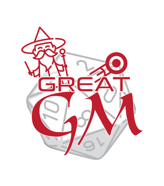 how to be a great game master logo how to gm